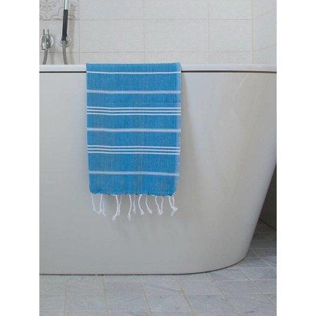Ottomania hammam handdoek Ottomania 50x100cm helderblauw
