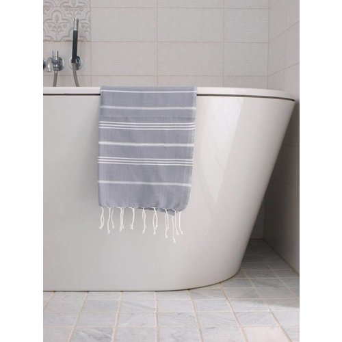 Ottomania hammam handdoek Ottomania 50x100cm grijs