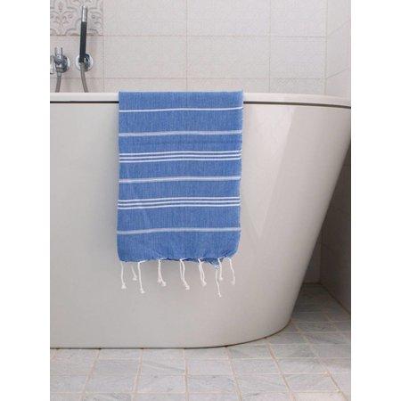 Ottomania hammam handdoek Ottomania 50x100cm grieksblauw