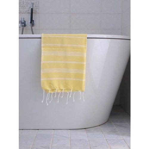 Ottomania hammam handdoek Ottomania 50x100cm geel