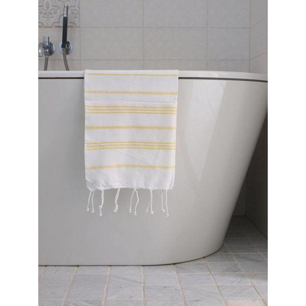 hammam handdoek Ottomania 50x100cm geel - kleine hamamdoek