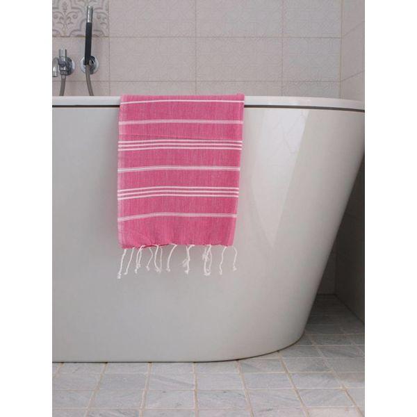 hammam handdoek Ottomania 50x100cm fuchsia - kleine hamamdoek