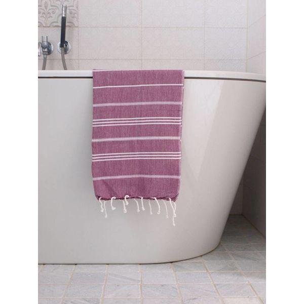 hammam handdoek Ottomania 50x100cm framboos - kleine hamamdoek