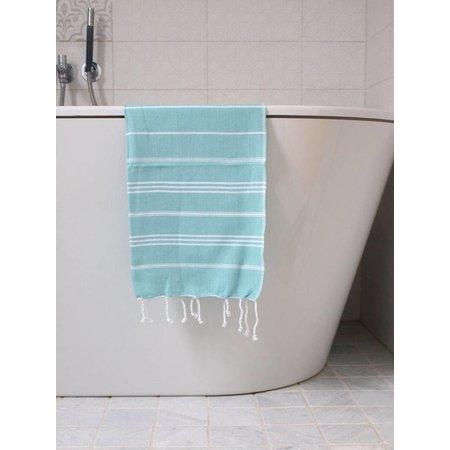 Ottomania hammam handdoek Ottomania 50x100cm donkerzeegroen