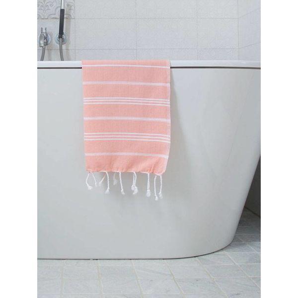 hammam handdoek Ottomania 50x100cm donkerperzik - kleine hamamdoek