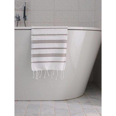 Ottomania hammam handdoek Ottomania 50x100cm donkerolijfgroen