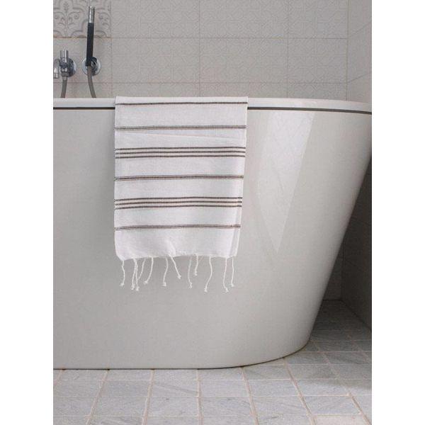 hammam handdoek Ottomania 50x100cm donkerolijfgroen - kleine hamamdoek