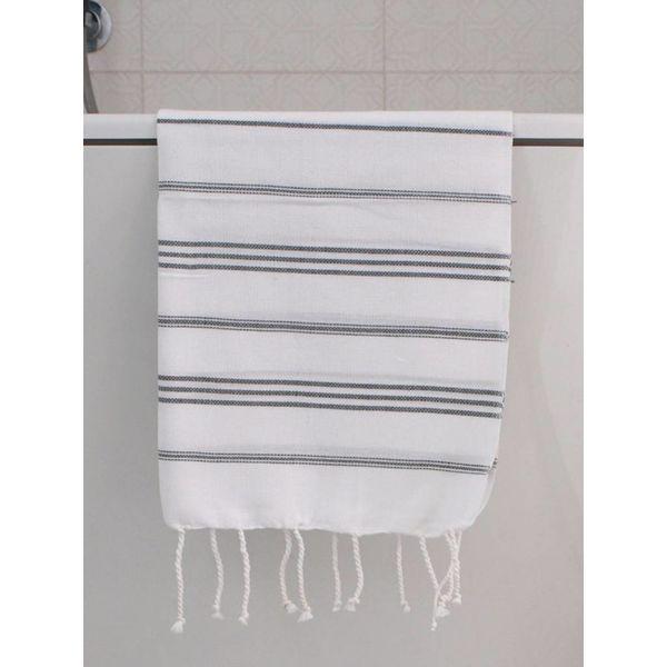 hammam handdoek Ottomania 50x100cm donkergrijs - kleine hamamdoek