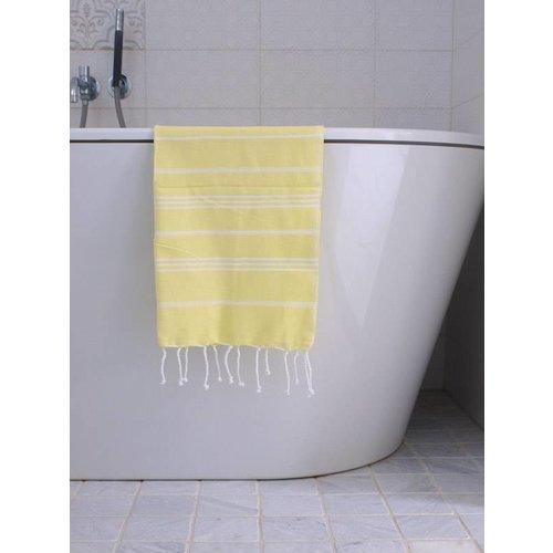 Ottomania hammam handdoek Ottomania 50x100cm citroengeel
