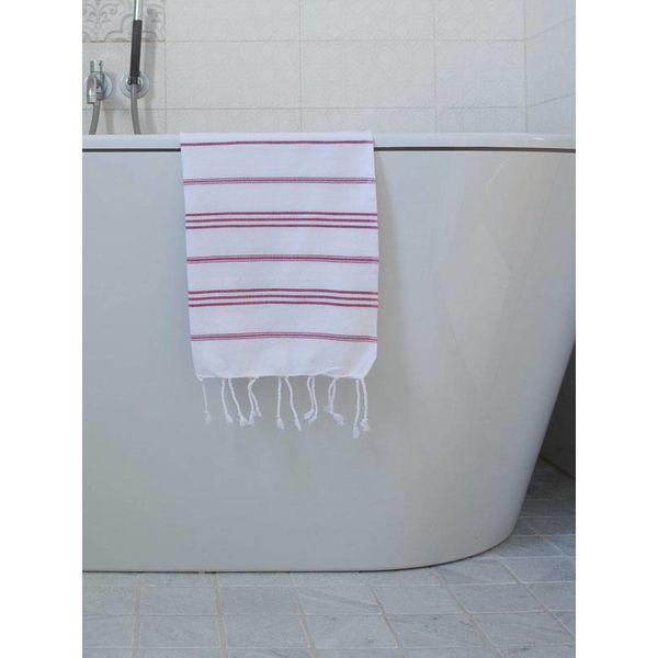 hammam handdoek Ottomania 50x100cm cerise - kleine hamamdoek
