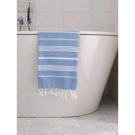 Ottomania hammam handdoek Ottomania 50x100cm blauw