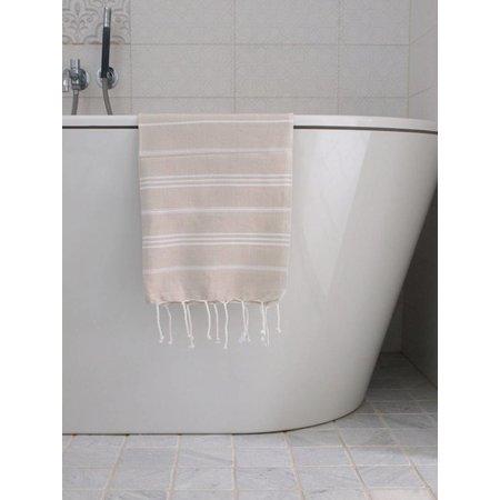 Ottomania hammam handdoek Ottomania 50x100cm beige