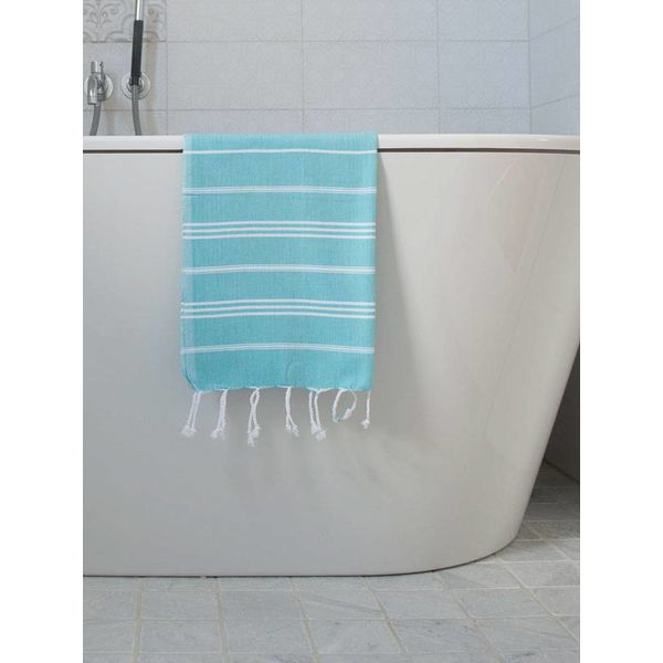 hammam handdoek Ottomania 50x100cm aqua - kleine hamamdoek
