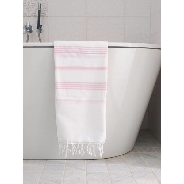 Hamamdoek Ottomania 100 x 170 cm roze - hamamdoek medium