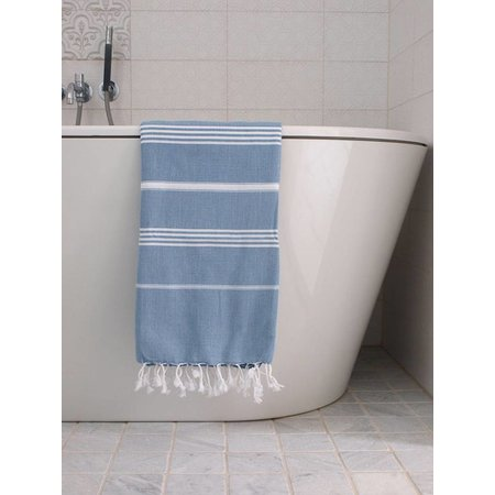 Ottomania Hamamdoek Ottomania 100 x 170 cm jeansblauw