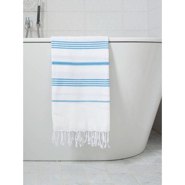Hamamdoek Ottomania 100 x 170 cm helderblauw - hamamdoek medium