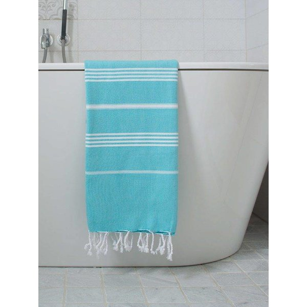 Hamamdoek Ottomania 100 x 170 cm aqua - hamamdoek medium