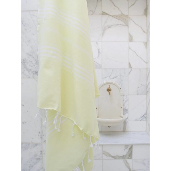 Hamamdoek Ottomania 100 x 210 cm lime - XL hamamdoek