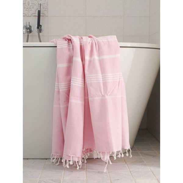 hamamdoek Ottomania 160 x 220cm roze - tweepersoons xxl hamamdoek