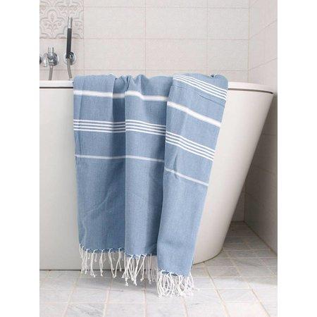Ottomania hamamdoek Ottomania 160 x 220cm jeansblauw