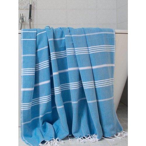 Ottomania hamamdoek Ottomania 160 x 220cm helderblauw