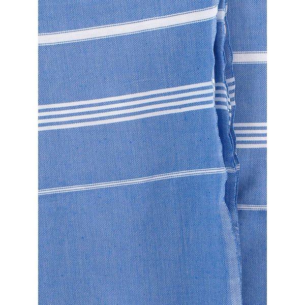 hamamdoek Ottomania 160 x 220cm grieksblauw - tweepersoons xxl hamamdoek