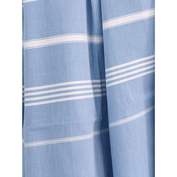 hamamdoek Ottomania 160 x 220cm blauw - tweepersoons xxl hamamdoek