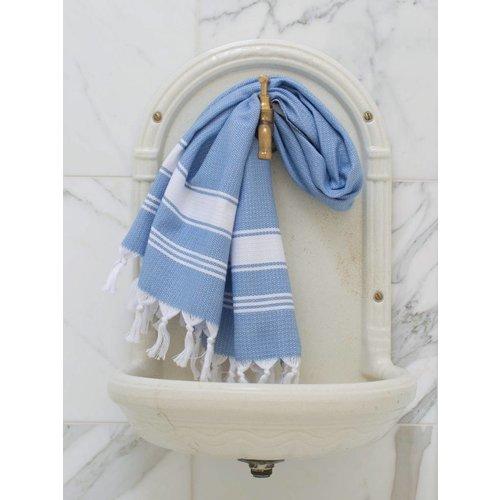 Ottomania Hamamdoek Ottomania honingraat blauw
