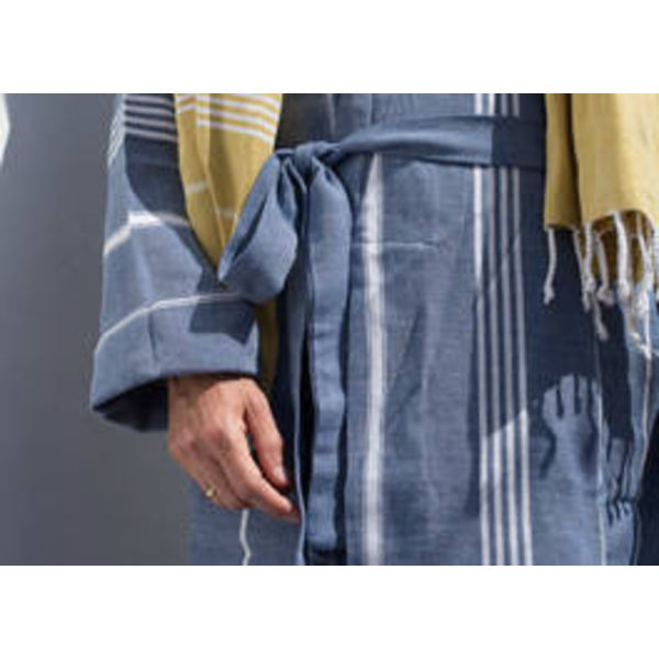 hamam badjas Ottomania marineblauw maat M/L