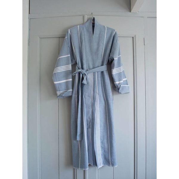 hamam badjas Ottomania jeansblauw maat M/L