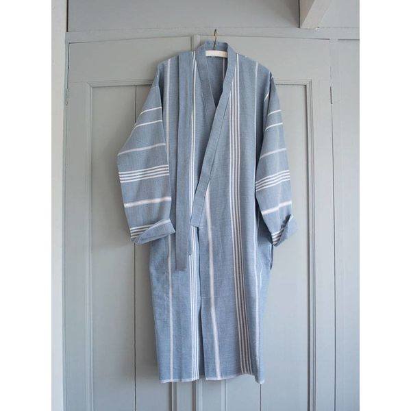hamam badjas Ottomania jeansblauw maat S/M