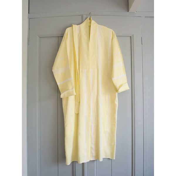 citroengele kimono hamam badjas