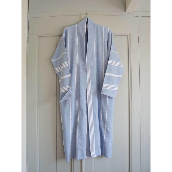 hamam badjas Ottomania blauw maat S/M