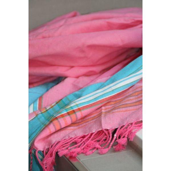 Kikoy strandlaken Lamu pink 95 x 170 cm