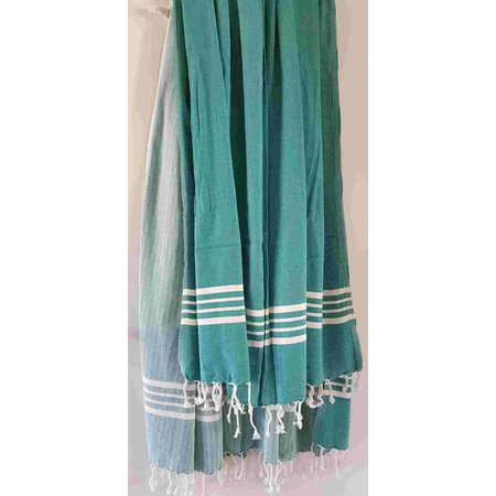 Lalay hamamdoek XL: XXL Lalay Krem Sultan Petrol Green