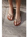 trendy soft comfort slippers dames Love Ocean bronze met kraaltjes