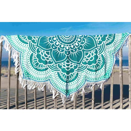 Call it Fouta! Rond strandlaken Call it Fouta! Gypsy Star flower green turquoise
