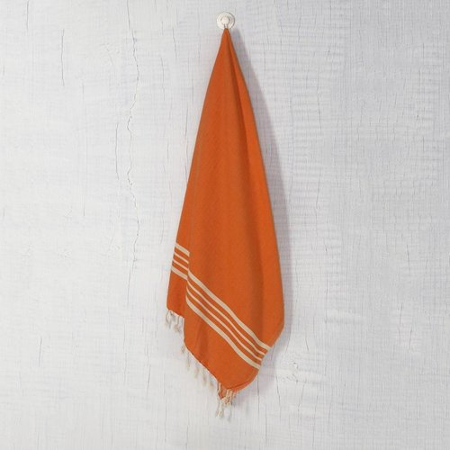 Lalay hamamdoek XL: XXL Lalay Krem Sultan orange