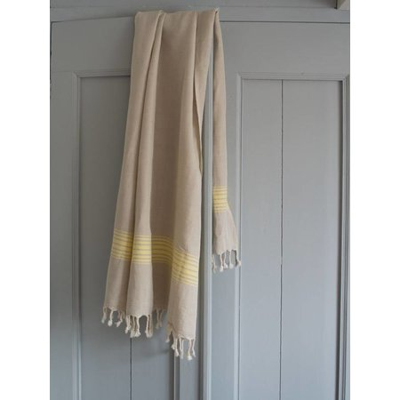 Ottomania Linnen handdoek geel