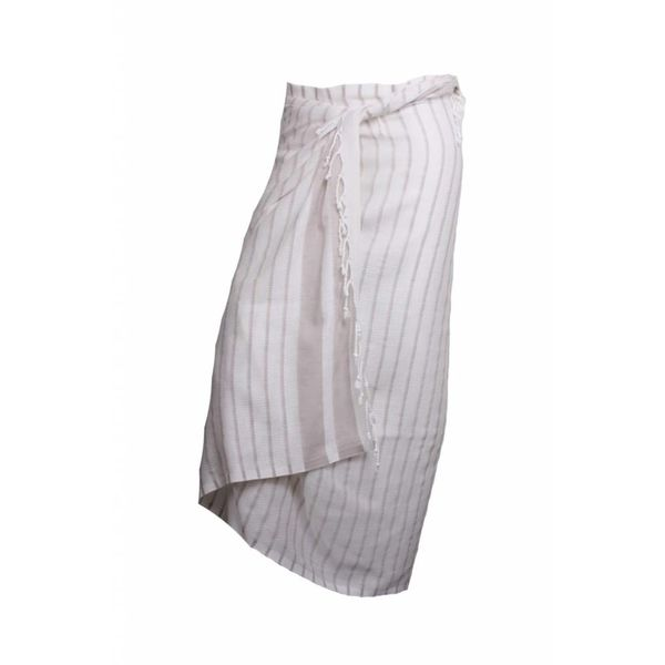 Sneldrogende handdoek: hamamdoek Aqua Streeps Cream