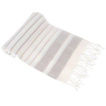 Hamams Own Sneldrogende handdoek: hamamdoek Aqua Streeps Cream