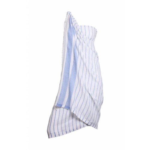 Hamams Own Pareo handdoek: hamamdoek Aqua Streeps Blue