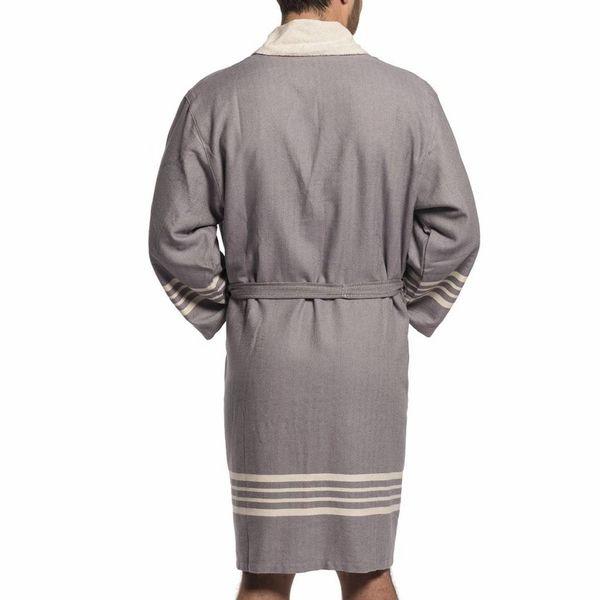 badstof hamam badjas dark grey unisex
