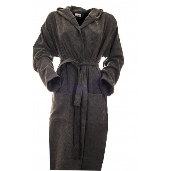 dunne katoenen badjas voor sauna antraciet