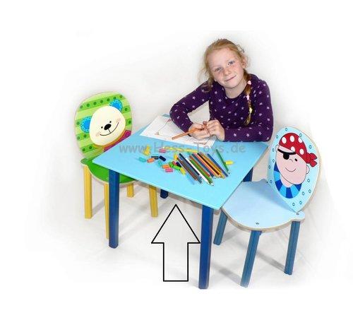 Hess Tafel Kindertafel Blauw Hout