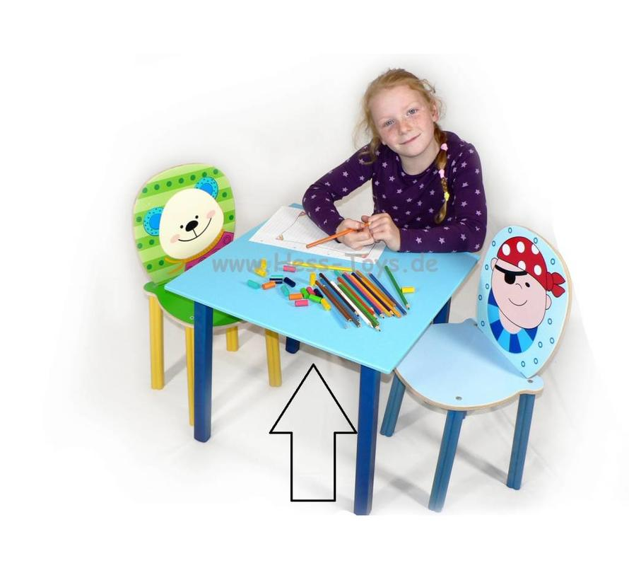 Tafel Kindertafel Blauw Hout