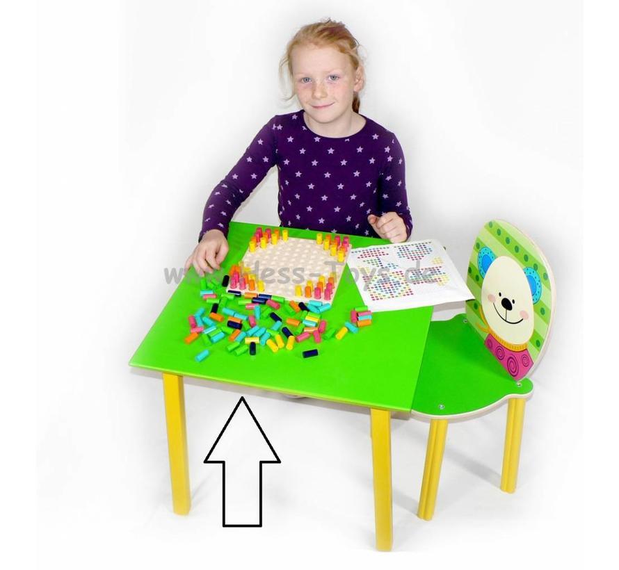 Tafel Kindertafel Groen Hout
