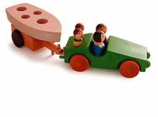 Weizenkorn Auto met Aanhanger Philipp 3 Hout