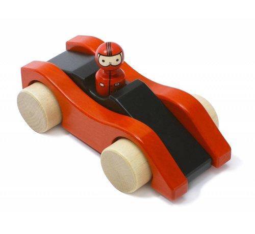 Weizenkorn Auto Racewagen Hout