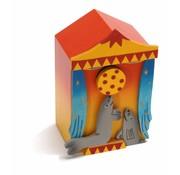 Weizenkorn Muziekdoos 3D Circus Zeeleeuwen Hout